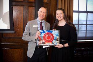 rgyle Wade presenting award to Keoinia Dobson