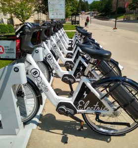 Photo of several BCycles at a station