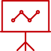Presentation icon signifying professional positions
