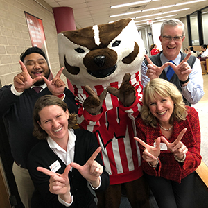 Bucky and student affairs cabinet