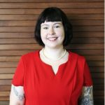 The 2021 New Student Convocation speaker — Kyla Vaughan. Photo by Amanda Halzel.